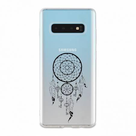Coque transparente Samsung Galaxy S10 Plus feminine attrape reve cle