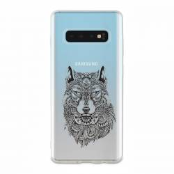 Coque transparente Samsung Galaxy S10 Plus loup
