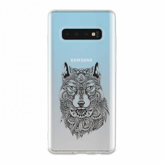 Coque transparente Samsung Galaxy S10 Plus loup
