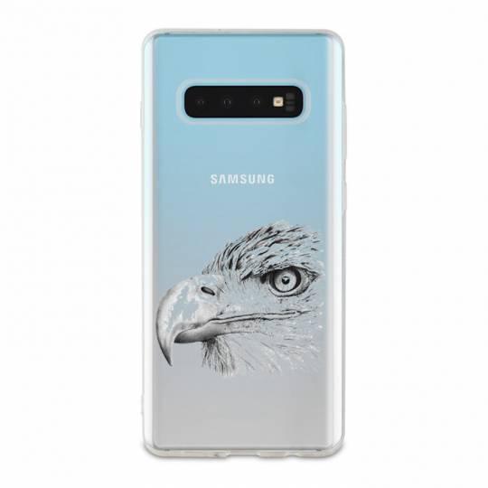 Coque transparente Samsung Galaxy S10 Plus aigle