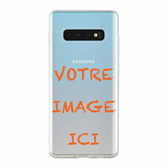 Coque transparente Samsung Galaxy S10 personnalisee