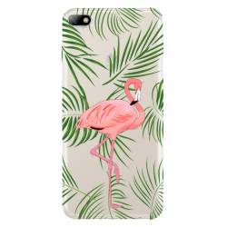 Coque transparente Huawei Y5 (2018) Flamant Rose