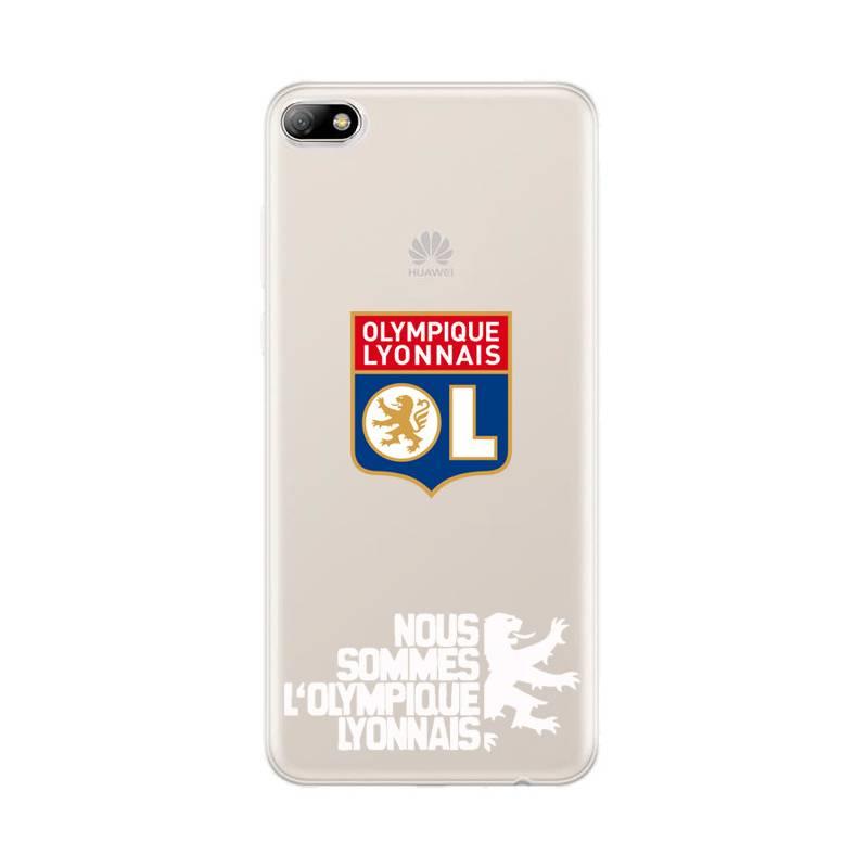Coque transparente Huawei Y5 (2018) Licence Olympique Lyonnais - double face
