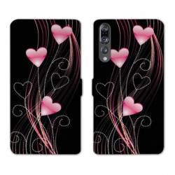 RV Housse cuir portefeuille Huawei P30 PRO amour