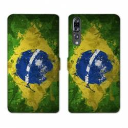 RV Housse cuir portefeuille Huawei P30 PRO Bresil