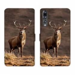 RV Housse cuir portefeuille Huawei P30 PRO chasse peche