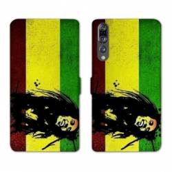 RV Housse cuir portefeuille Huawei P30 PRO Bob Marley