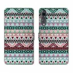 RV Housse cuir portefeuille Huawei P30 PRO motifs Aztec azteque