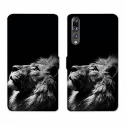 RV Housse cuir portefeuille Huawei P30 PRO felins