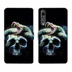 RV Housse cuir portefeuille Huawei P30 PRO reptiles