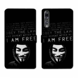 RV Housse cuir portefeuille Huawei P30 PRO Anonymous
