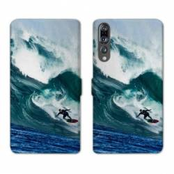 RV Housse cuir portefeuille Huawei P30 PRO Sport Glisse