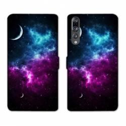 RV Housse cuir portefeuille Huawei P30 PRO Espace Univers Galaxie