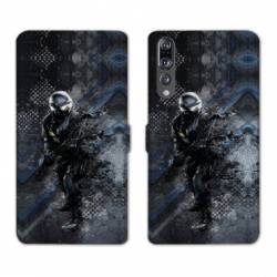 RV Housse cuir portefeuille Huawei P30 PRO pompier police