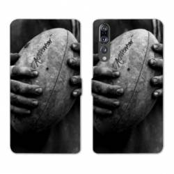RV Housse cuir portefeuille Huawei P30 PRO Rugby