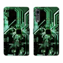 RV Housse cuir portefeuille Huawei P30 PRO Trompe oeil