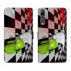 RV Housse cuir portefeuille Huawei P30 PRO apple vs android