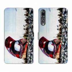 RV Housse cuir portefeuille Huawei P30 PRO Moto
