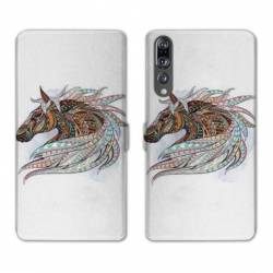 RV Housse cuir portefeuille Huawei P30 PRO Animaux Ethniques