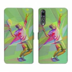RV Housse cuir portefeuille Huawei P30 PRO Tennis