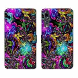 RV Housse cuir portefeuille Huawei P30 PRO Psychedelic
