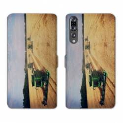 RV Housse cuir portefeuille Huawei P30 PRO Agriculture