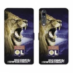 RV Housse cuir portefeuille Huawei P30 PRO Licence Olympique Lyonnais - Rage de vaincre