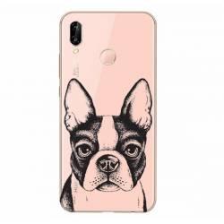 Coque transparente Huawei P30 Lite Bull dog