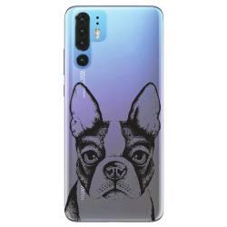 Coque transparente Huawei P30 Pro Bull dog