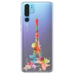 Coque transparente Huawei P30 Pro Tour eiffel colore