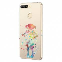 Coque transparente Huawei Y6 (2018) / Honor 7A Dobby colore
