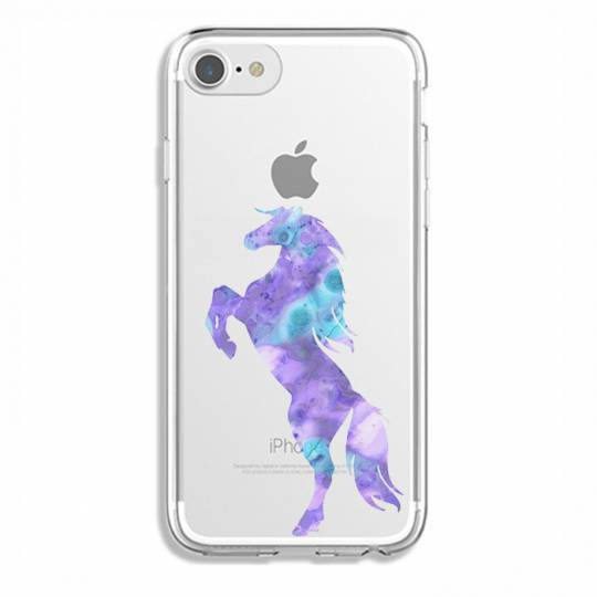 Coque transparente Iphone 6 / 6s Cheval Encre
