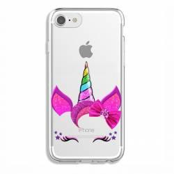 Coque transparente Iphone 6 / 6s Licorne paillette