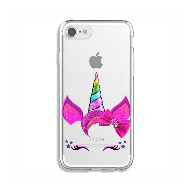 Coque transparente Iphone 6 / 6s Licorne paillette