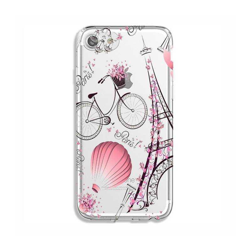 Coque transparente Iphone 6 / 6s Paris mongolfiere