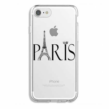 Coque transparente Iphone 6 / 6s Paris noir