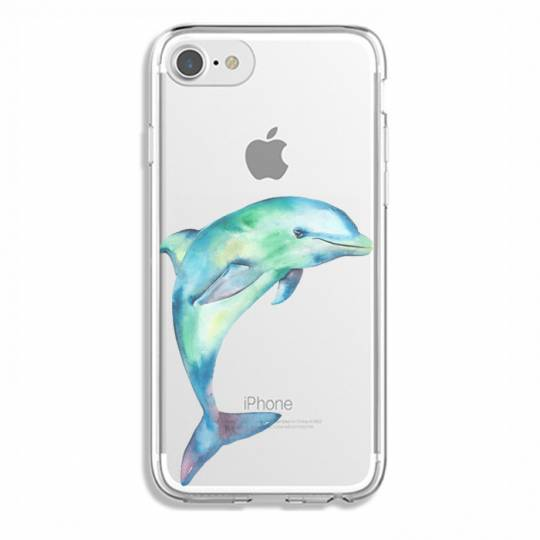 Coque transparente Iphone 7 / 8 Dauphin Encre