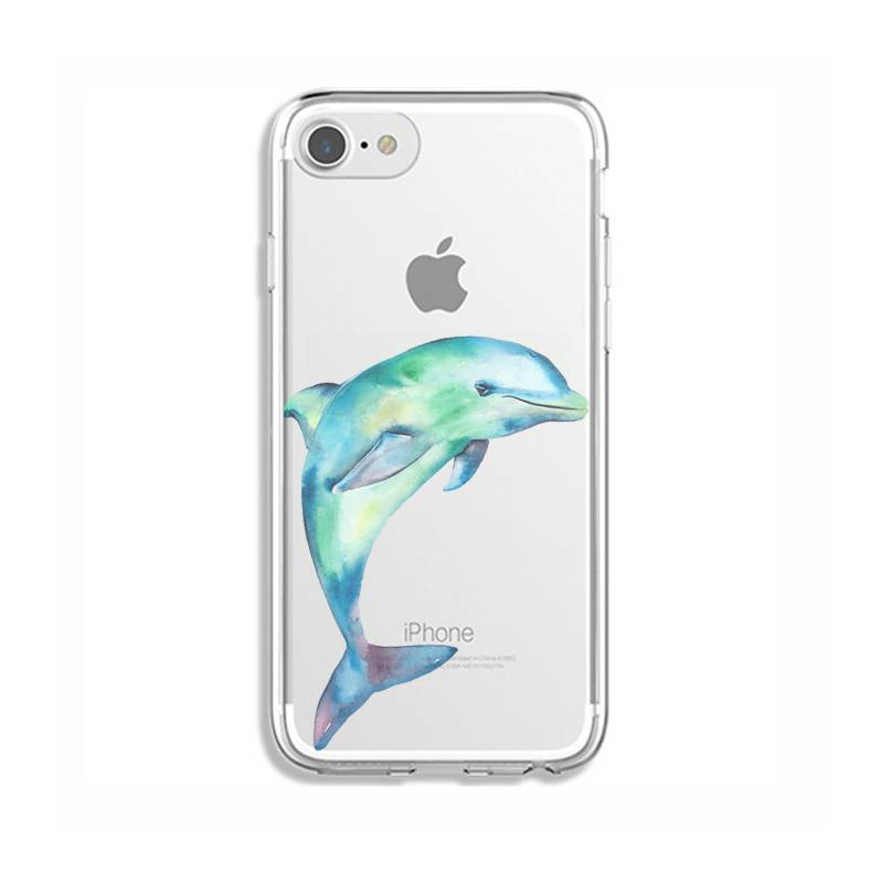 Coque transparente Iphone 7 / 8 Dauphin Encre