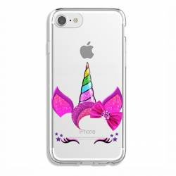 Coque transparente Iphone 7 / 8 Licorne paillette