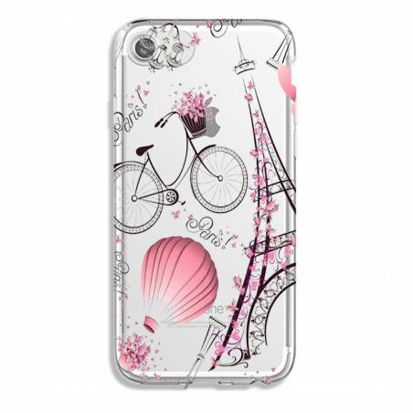 Coque transparente Iphone 7 / 8 Paris mongolfiere