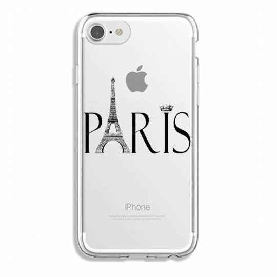 Coque transparente Iphone 7 / 8 Paris noir