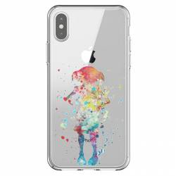Coque transparente Iphone X / XS Dobby colore