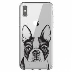 Coque transparente Iphone XS Max Bull dog
