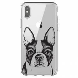 Coque transparente Iphone XS Max Bull dog