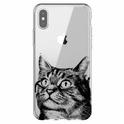 Coque transparente Iphone XS Max Chaton