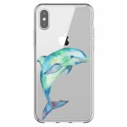 Coque transparente Iphone XS Max Dauphin Encre