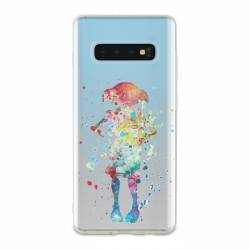Coque transparente Samsung Galaxy S10 Dobby colore