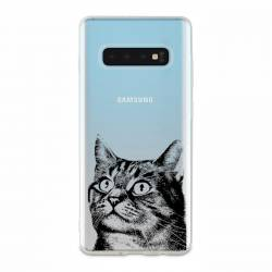 Coque transparente Samsung Galaxy S10 Chaton