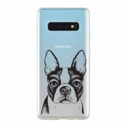 Coque transparente Samsung Galaxy S10 Bull dog