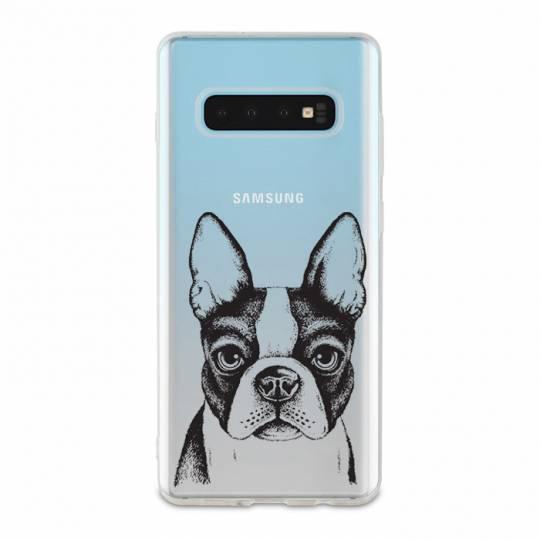 Coque transparente Samsung Galaxy S10 Bull dog